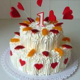 2patrový dort krémový