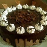 čokoládový dort s ganaš