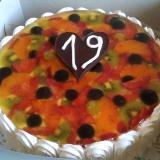 ovocný dort velký