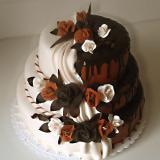 3patrový dort půlený