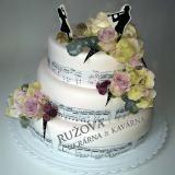 svatební dort noty
