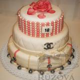3patrový dort perly